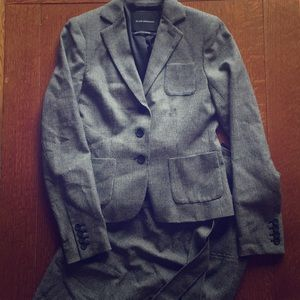 CLUB MONACO HOUNDSTOOTH HIGH WAISTED SKIRT SUIT